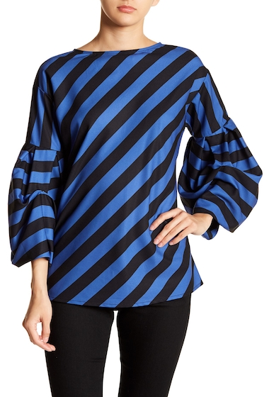Imbracaminte Femei TOV Striped Quarter Blouse BLUE-BLACK