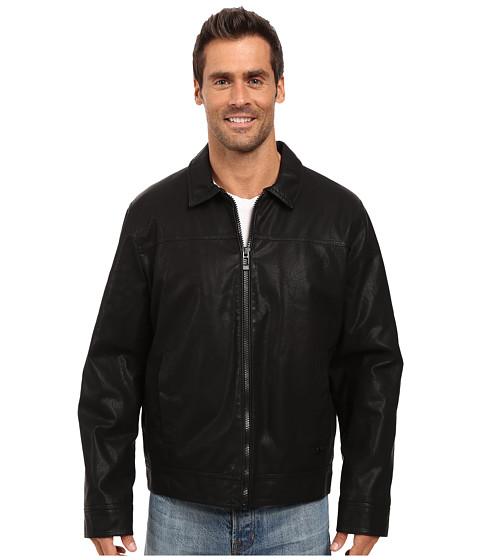 Imbracaminte Barbati Calvin Klein Faux Leather Shirt Collar Jacket Black