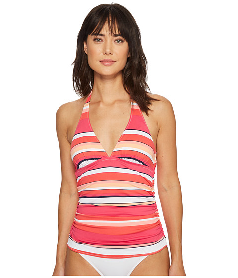 Imbracaminte Femei Tommy Bahama Petals of Paradise Reversible Halter Tankini Coral Glow