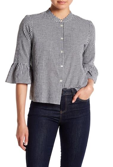 Imbracaminte Femei Madewell Gingham Bell Sleeve Shirt TRUE BLACK