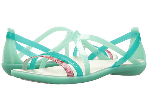 Incaltaminte Femei Crocs Isabella Cut Graphic Strappy Sandal New MintOyster