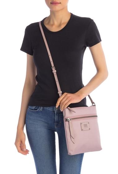 Genti Femei Frye Ivy Nylon Leather Trimmed Crossbody Bag LILAC