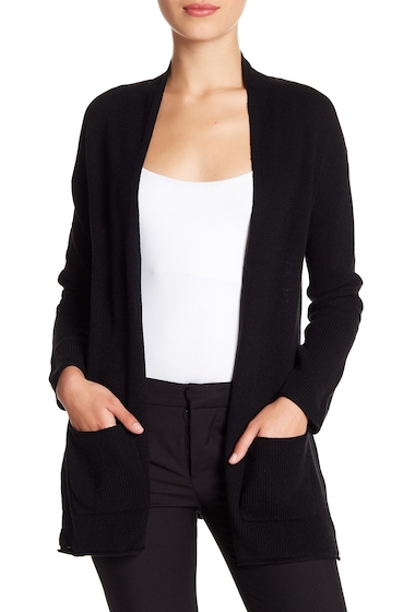 Imbracaminte Femei Philosophy Apparel Open Front Long Sleeve Cardigan Petite BLACK