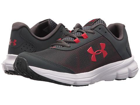 Incaltaminte Baieti Under Armour UA BGS Rave 2 (Big Kid) Stealth GrayWhiteRed