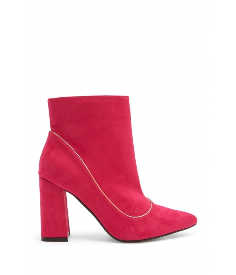 Incaltaminte Femei Forever21 Lemon Drop by Privileged Faux Suede Booties FUCHSIA