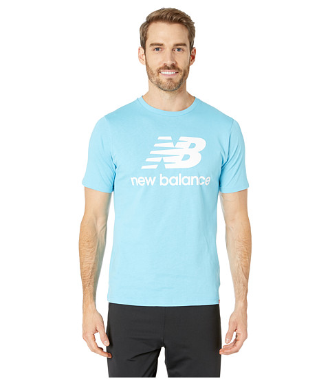 Imbracaminte Barbati New Balance Essentials Stacked Logo Tee Enamel Blue