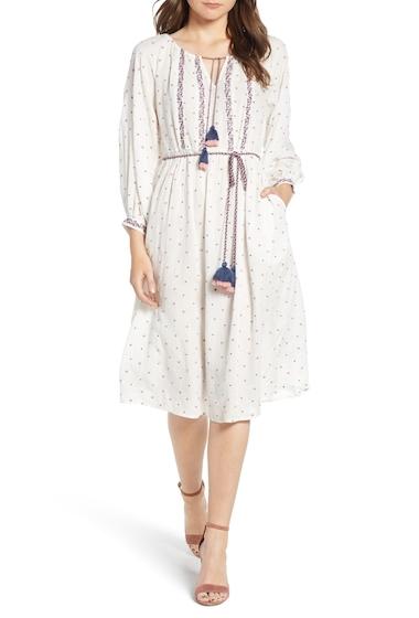 Imbracaminte Femei Velvet By Graham Spencer Embroidered Tassel Tie A-Line Dress MULTI
