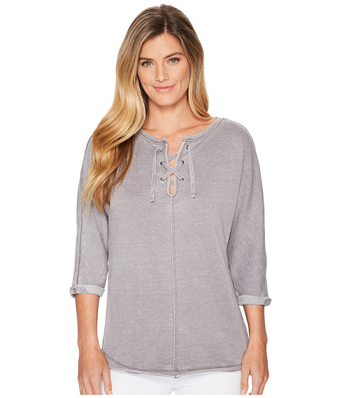 Imbracaminte Femei Jag Jeans Debbie Lace-Up Shirt Grey Streak