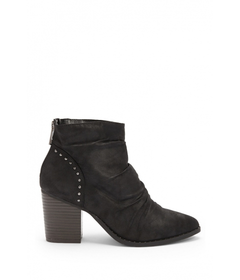 Incaltaminte Femei Forever21 L4L By Lust For Life Washed Faux Leather Booties BLACK