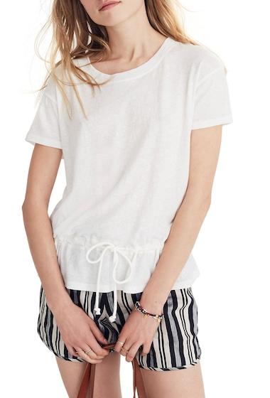 Imbracaminte Femei Madewell Drawstring T-Shirt BRIGHT IVORY