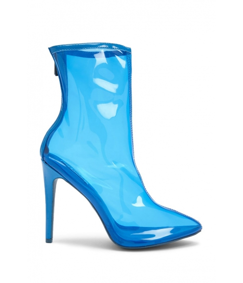 Incaltaminte Femei Forever21 Clear Pointed Toe Booties BLUE