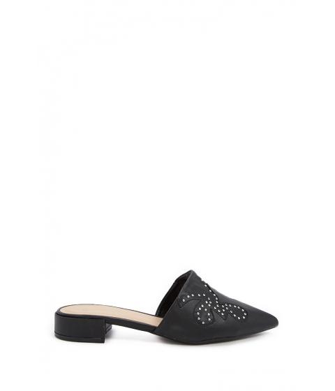 Incaltaminte Femei Forever21 Studded Loafer Mules BLACK