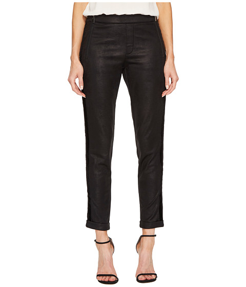 Imbracaminte Femei The Kooples Leather Effect Sport Pants with Zip Black