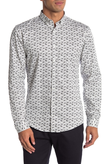 Imbracaminte Barbati Lindbergh Long Sleeve Printed Regular Fit Shirt GREY