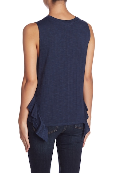 Imbracaminte Femei BCBGeneration Side Ruffle Tank Top DARK NAVY