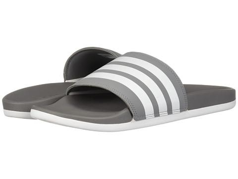 Incaltaminte Barbati adidas Adilette Comfort Grey 3WhiteGrey 3