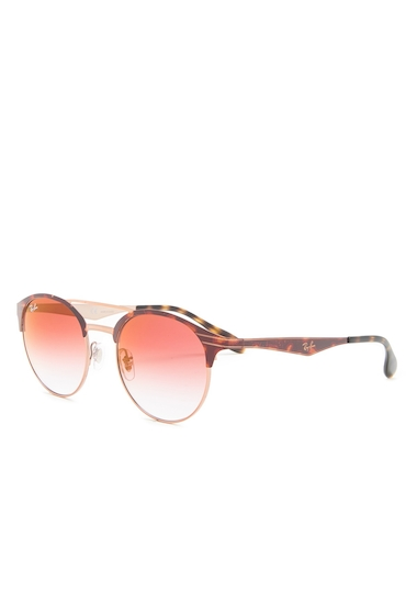 Ochelari Barbati Ray-Ban Phantos 51mm Clubmaster Sunglasses RED MIRROR