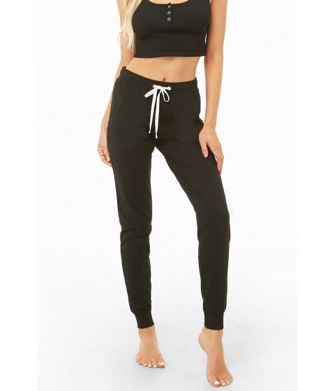 Imbracaminte Femei Forever21 Drawstring Knit Pants BLACK