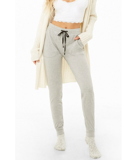 Imbracaminte Femei Forever21 Drawstring Knit Pants HEATHER GREY