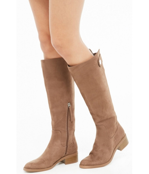 Incaltaminte Femei Forever21 Faux Suede Riding Boots TAUPE