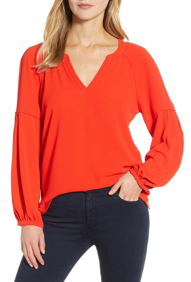 Imbracaminte Femei Vince Camuto Bubble Sleeve Crepe Blouse Regular Petite TROPICAL R