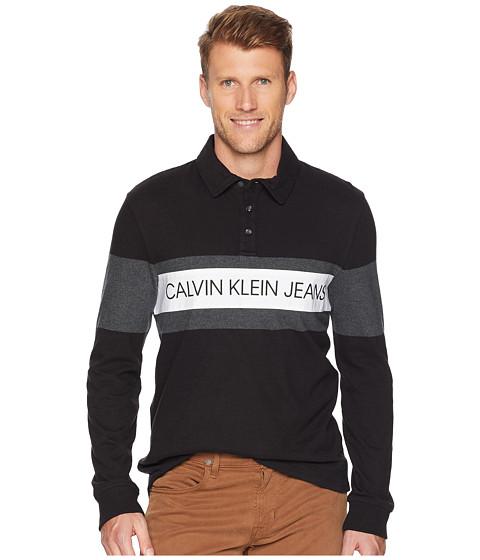 Imbracaminte Barbati Calvin Klein Logo Rugby Shirt Black