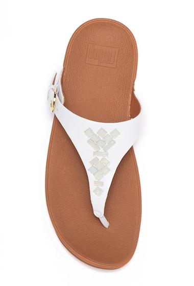 Incaltaminte Femei FitFlop The Skinny Embellished Platform Sandal URBAN WHITE