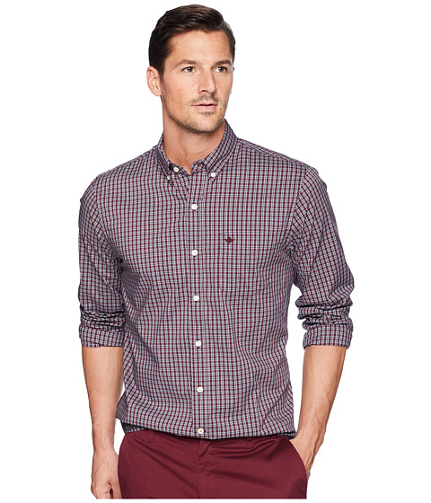 Imbracaminte Barbati Dockers Long Sleeve Stretch Woven Shirt Mission Winetasting Plaid