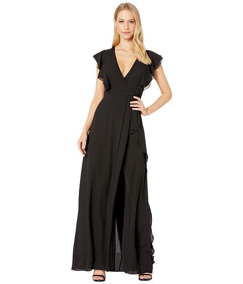 Imbracaminte Femei BCBGMAXAZRIA Callie Ruffled Gown Black