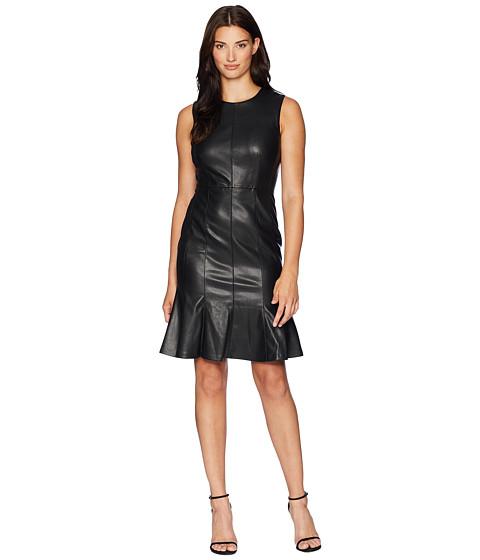Imbracaminte Femei Calvin Klein PU Fit amp Flare Dress CD8U14QB Black