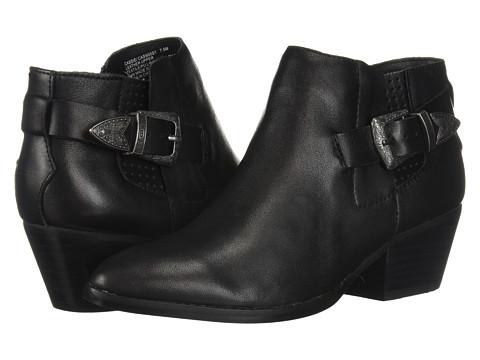 Incaltaminte Femei Steve Madden Cassie Western Bootie Black Leather