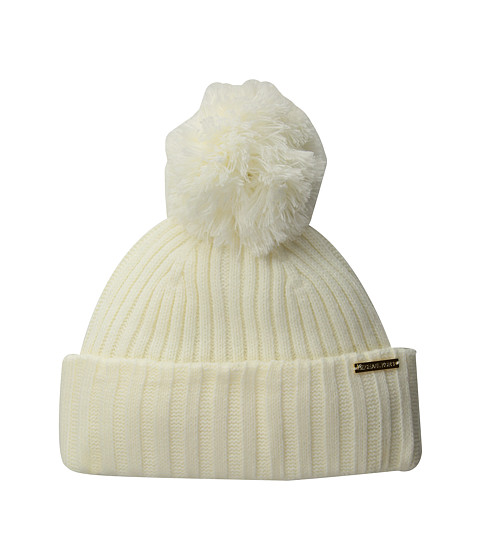 Accesorii Femei Michael Kors Rib Cuff Hat CreamGold