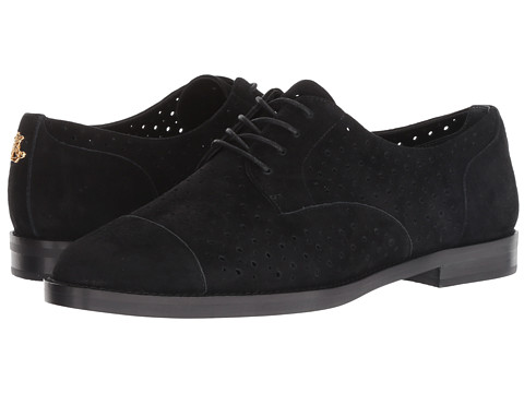 Incaltaminte Femei LAUREN Ralph Lauren Marian BlackBlack Perforated Kid SuedeKid Suede