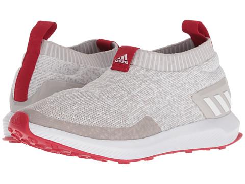 Incaltaminte Fete adidas Kids RapidaRun Laceless Knit (Big Kid) WhiteChalk PearlScarlet