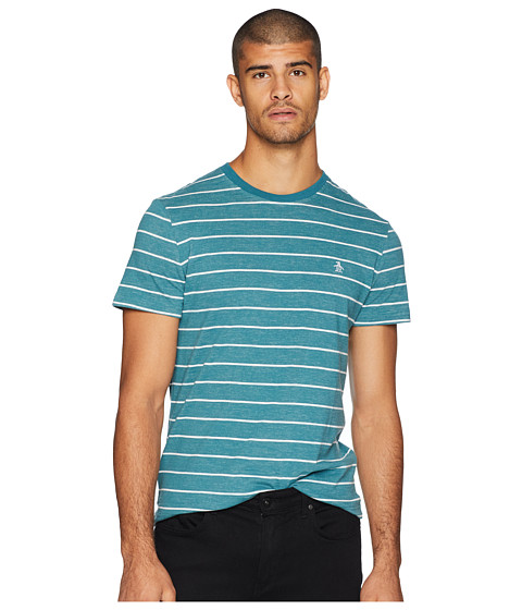 Imbracaminte Barbati Original Penguin Short Sleeve Plaited Feeder Stripe T-Shirt Dragonfly