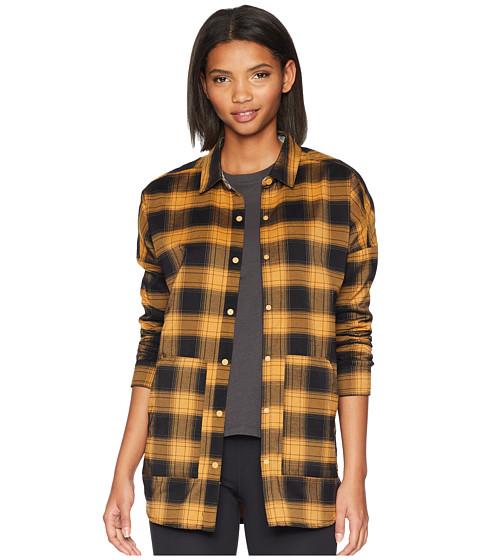 Imbracaminte Femei Burton Teyla Flannel Long Sleeve T-Shirt Camel Muirwoods Plaid