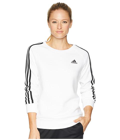 Imbracaminte Femei adidas Cotton Fleece 3-Stripes Sweatshirt WhiteBlack