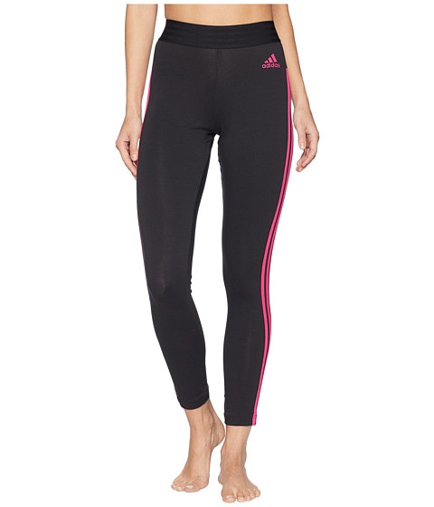 Imbracaminte Femei adidas Essential 3-Stripe Tights BlackReal Magenta