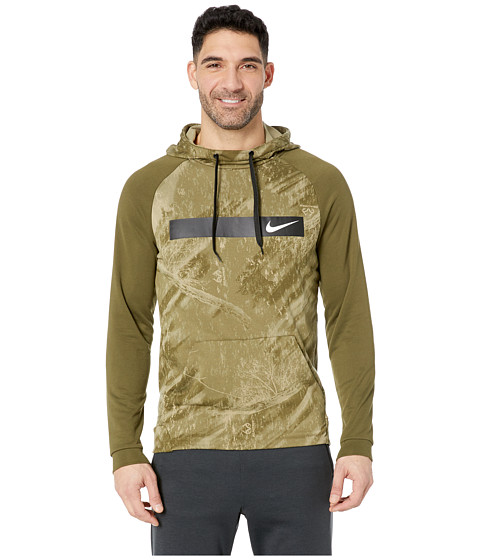 Imbracaminte Barbati Nike Therma Hoodie Pullover Special Forces Olive CanvasWhite