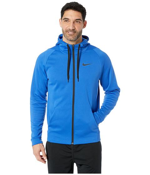 Imbracaminte Barbati Nike Dri-FIT Therma Men's Full-Zip Training Hoodie Game RoyalBlack