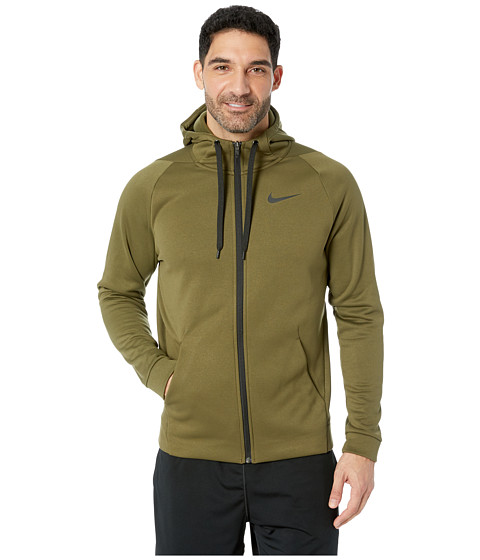 Imbracaminte Barbati Nike Dri-FIT Therma Men's Full-Zip Training Hoodie Olive CanvasBlack