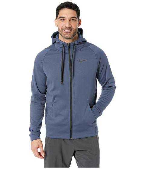 Imbracaminte Barbati Nike Dri-FIT Therma Men's Full-Zip Training Hoodie Thunder BlueBlack