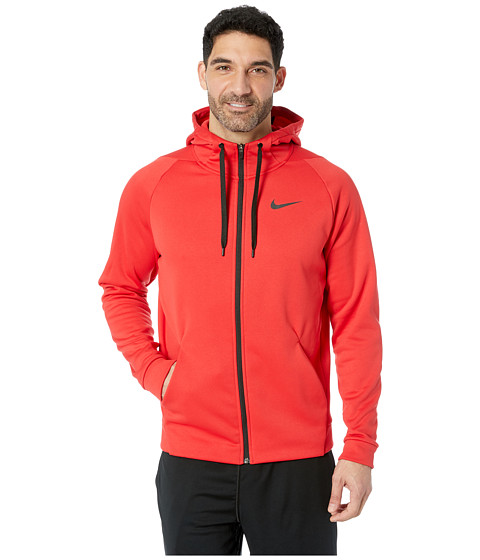 Imbracaminte Barbati Nike Dri-FIT Therma Men's Full-Zip Training Hoodie University RedBlack