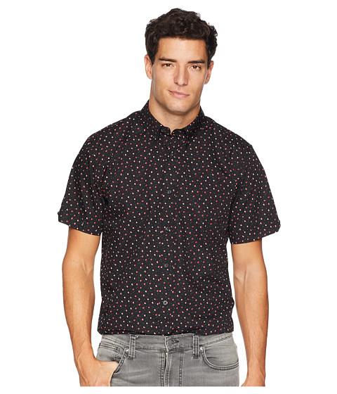 Imbracaminte Barbati Ben Sherman Short Sleeve Shadow Spot Print Shirt Black