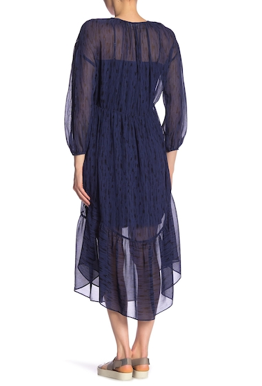Imbracaminte Femei Vince Brushstroke Silk Midi Dress COASTAL BLUE