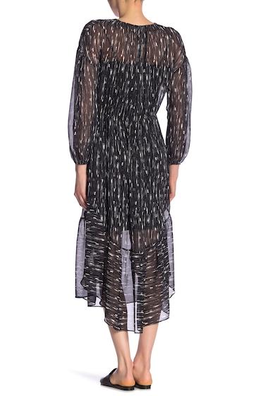 Imbracaminte Femei Vince Brushstroke Silk Midi Dress BLACK