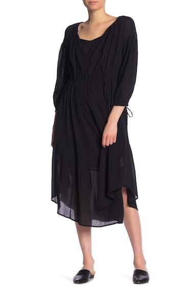 Imbracaminte Femei Vince Shirred Seamed Dress BLACK