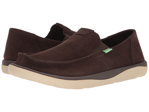 Incaltaminte Barbati Sanuk Vagabond Tripper Suede Dark Brown