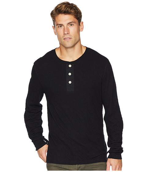 Imbracaminte Barbati 7 For All Mankind Long Sleeve Army Henley Black