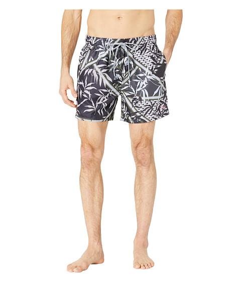 Imbracaminte Barbati Ted Baker Plecoe Floral Mashup Print Swim Shorts Navy